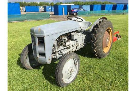 FERGUSON TEC-20 1952 NARROW PETROL TRACTOR C/W GRASS