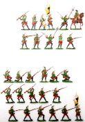 Siebenjähriger Krieg, Russland, Linien-Grenadiere fechtend und im Feuer, Kieler Zinnfiguren, Marke