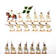 Frankreich um 1760, Infanterie-Regiment Champagne Nr. 2, Musketiere stürmend, Kieler Zinnfiguren,