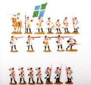 Frankreich um 1760, Infanterie-Regiment La Marine im Feuer, Kieler Zinnfiguren, Marke Kilia,