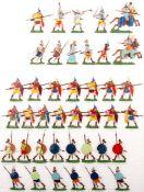 Altertum, Assyrer, schweres Fußvolk vorgehend, Fußvolk im Sturm, Kieler Zinnfiguren, Marke Oki,