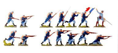 Frankreich 1914-16, Infanterie, Jäger im Gefecht, Neckel, sehr saubere, unschattierte