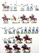 Siebenjähriger Krieg, Österreich-Ungarn, Husaren anreitend, Musketiere im Feuer, Kieler Zinnfiguren,