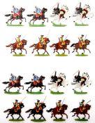 Siebenjähriger Krieg, Preußen, fallende Dragoner und Husaren, Österreich, Dragoner im Angriff,