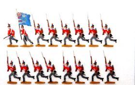 Großbritannien um 1810, Infanterie vorlaufend, Kieler Zinnfiguren, Marke Kilia, Originalbemalung mit