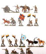 Russland 1914-17, Artillerie und Infanterie, verschiedene Hersteller, sehr gute, schattierte