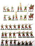 Siebenjähriger Krieg, Russland, Garde-Grenadiere im Feuer und fechtend, Kieler Zinnfiguren, Marke