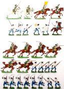 Siebenjähriger Krieg, Sachsen, Chevaulegers, im Angriff, Österreich-Ungarn, Musketiere im Sturm,