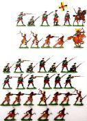 Russland um 1760, Musketiere im Feuer; Kolonialzeit, Indianer, Fußvolk fechtend, Kieler Zinnfiguren,