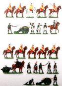 Siebenjähriger Krieg, Russland, Kürassiere haltend, Artillerie im Feuer, Kieler Zinnfiguren, Marke