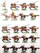 Altertum, Karthago, Lybische schwere Reiter fechtend, Numidische Lanzenreiter im Angriff, Kieler