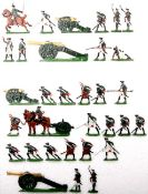 Siebenjähriger Krieg, Russland, Artillerie richtend, Kieler Zinnfiguren, Marke Oki, Originalbemalung