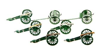 Frankreich um 1810, plastische Geschütze und Protzen, Neckel, originale Herstellerbemalung, 7