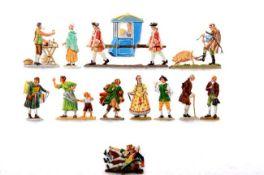 18. Jahrhundert, Straßenleben, verschiedene Hersteller, Provenienz: Sammlung Renate Kebbel, sehr