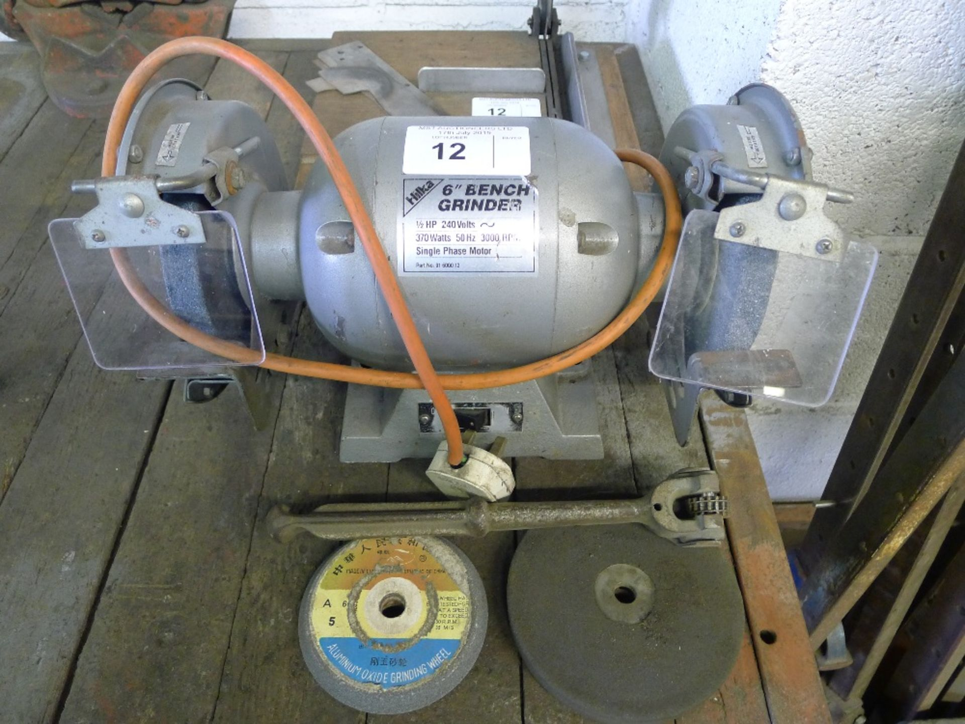 1 Hilka 6 Inch Bench Grinder 240v And 1 Small Hand