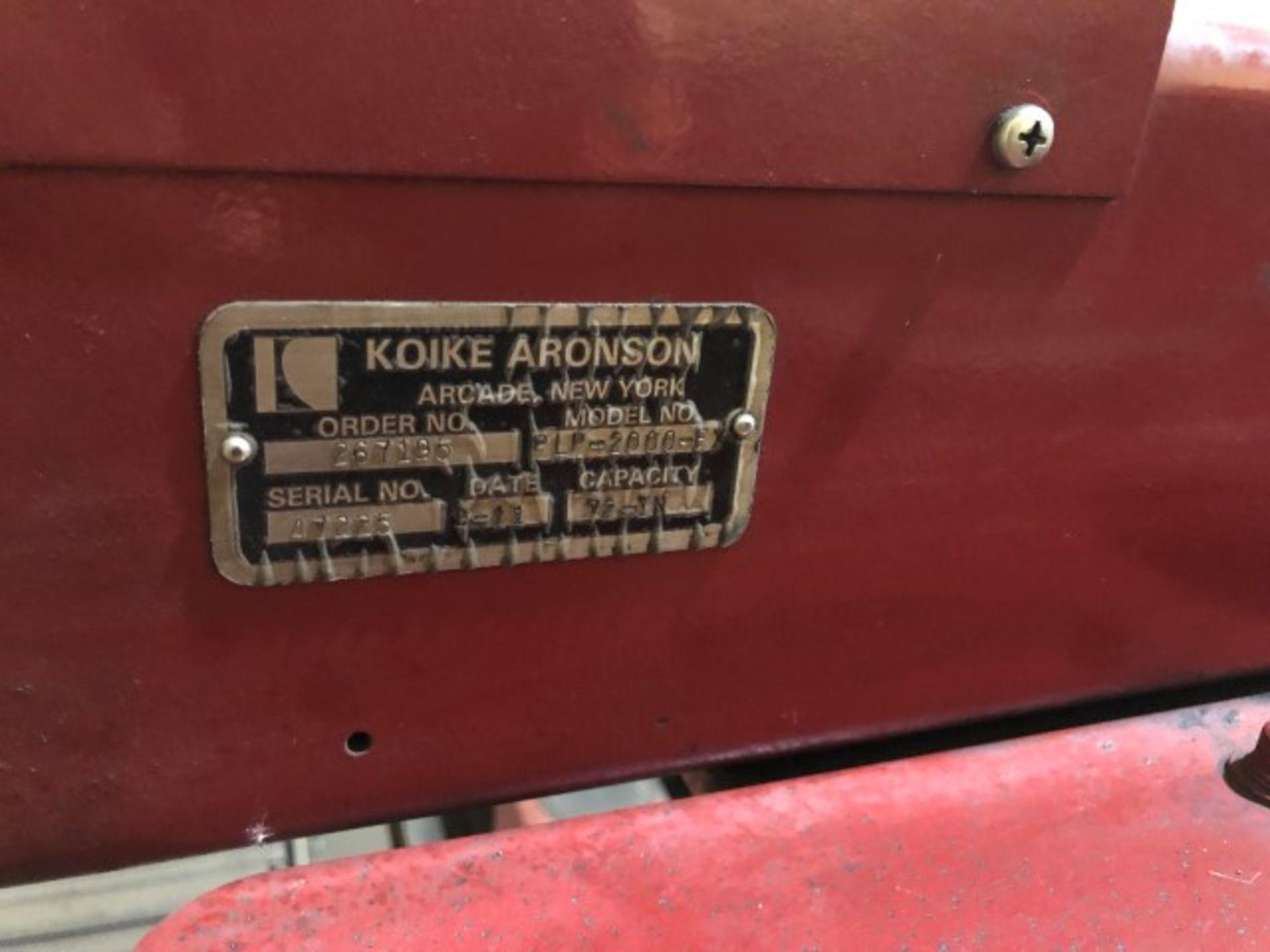 Lot 506 - 2012 Koike Aronson Model PLP2000-E, Plate Pro Extreme Plasma Table, s/n 17225 w/ 8' x 24' Table