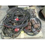 Two skids of propane torches, hose and valves plus number and letter stamps