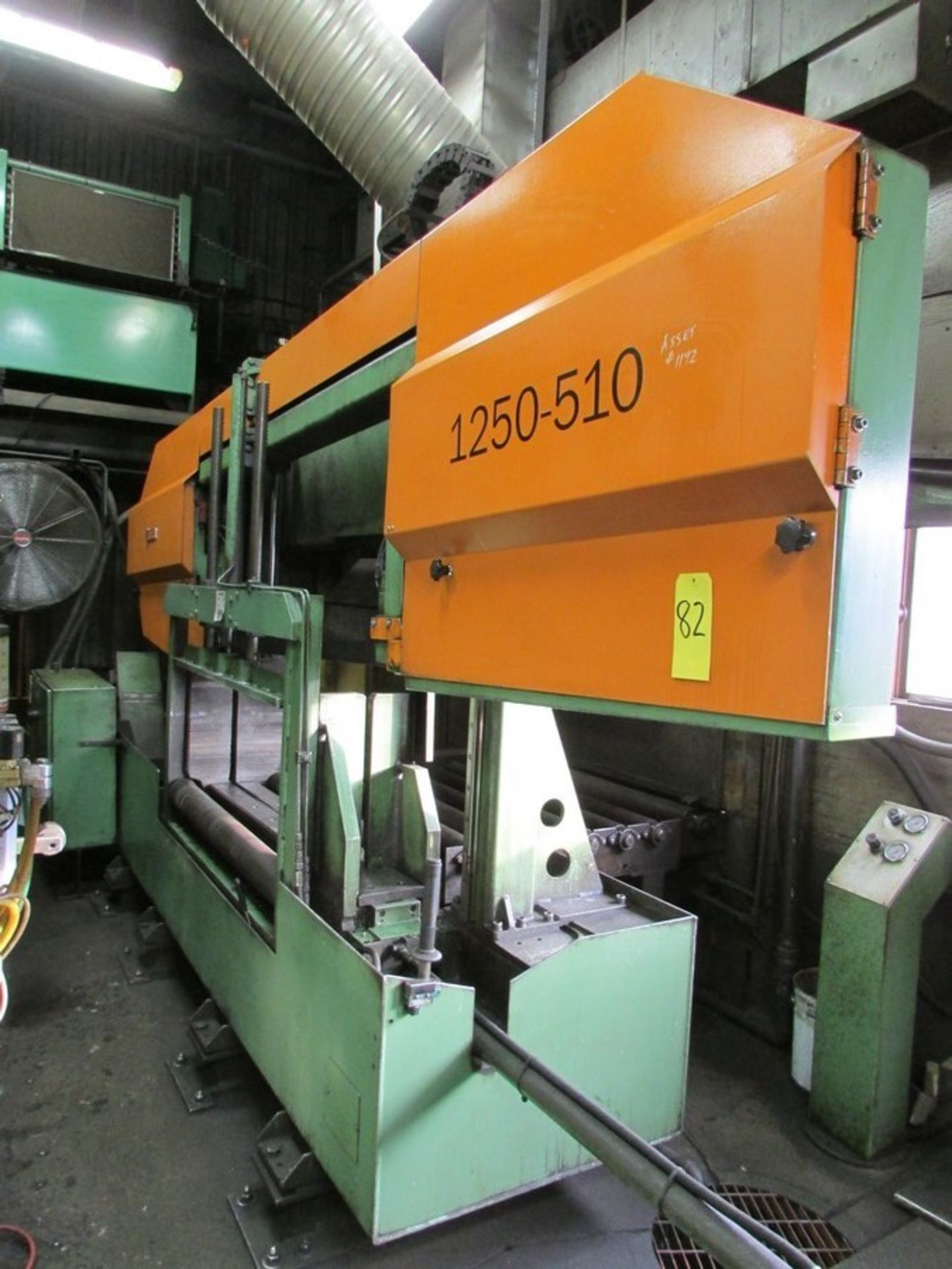 Lot 82 - 2008 Peddinghaus 1250-510 Horizontal Band Saw s/n 18085 w/ Hyd. Clamping and c/w 4 unused saw blades
