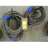 Multiple lengths of twin acetylene welding hose, over 300' in total