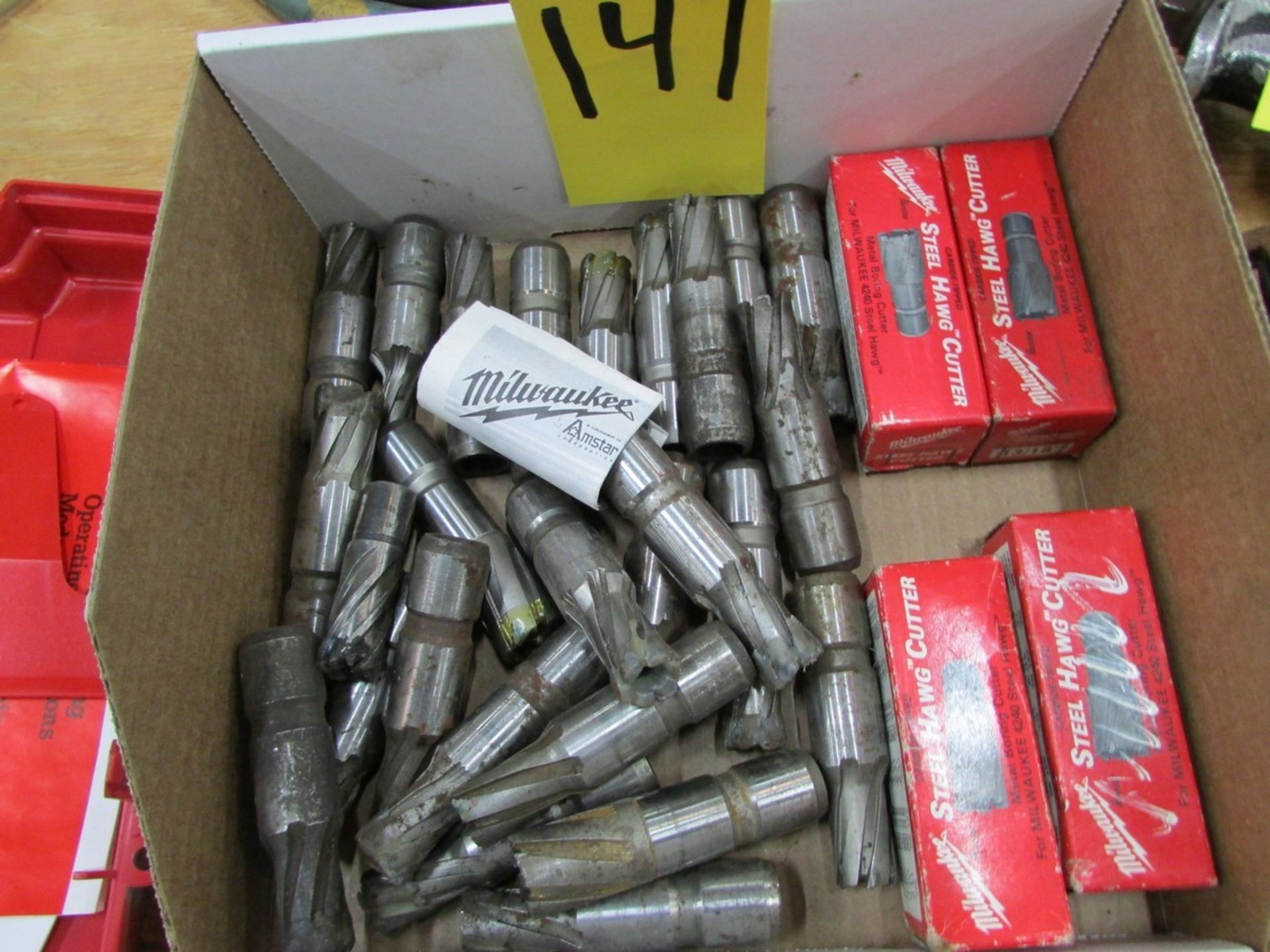 Lot 147 - Two boxes of Milwaukee Steel Hawg cutters (unused, used and re-sharpened)