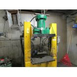 Shopbuilt H Frame press, approx. 100 Ton Cap., 30'' opening, 24'' x 30'' table, 575V/60/3