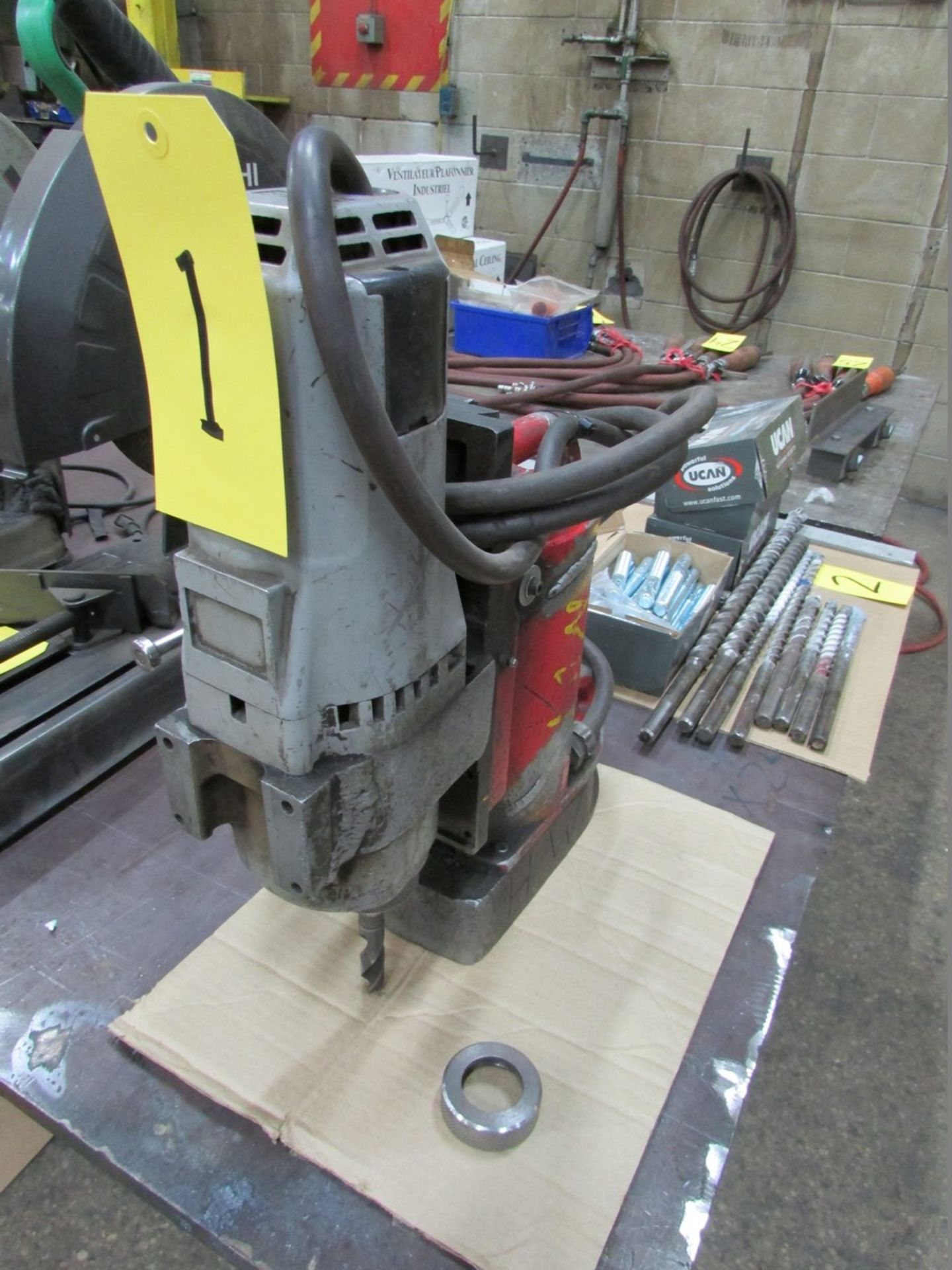 Lot 1 - Milwaukee Magnetic Drill w/ 2MT Adapter, 110V