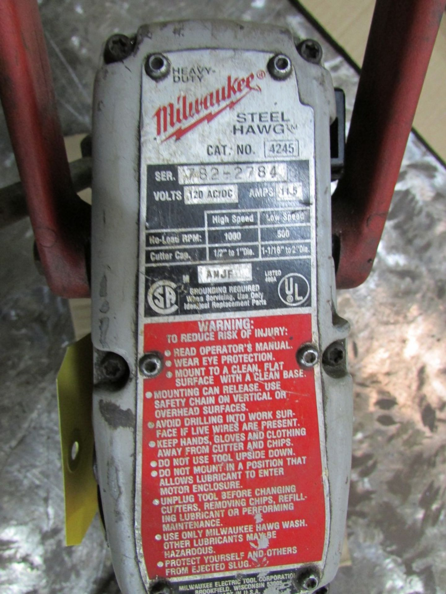 Lot 18 - Milwaukee 4245 Steel Hawg magnetic drill, 110V