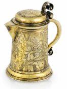 Kleines AbendmahlskännchenNürnberg, Heinrich Straub, um 1630H. 10,5 cmSilber, getrieben, graviert
