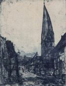 "Nolde, EmilNolde/Schleswig, 1867 - Seebüll, 195919,3 x 14,8cm,R.""Schiefer Turm in Soest"", 1906."