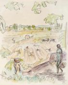 Haueisen, AlbertStuttgart, 1872 - Jockgrim, 1954Versch., o.R.2 Bl.: Feldarbeiter; Erntelandschaft.