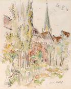 Haueisen, AlbertStuttgart, 1872 - Jockgrim, 1954Versch., o.R.4 Bl.: Dorfansicht; Angler; Am Brunnen,
