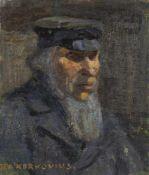 """Kerkovius, IdaRiga, 1879 - Stuttgart, 197048,5 x 40,7cm,R.""""Lettischer Bauer"""", 1900. Öl auf Leinwand."""
