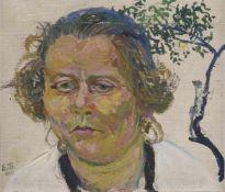 Stirner, KarlEllwangen, 1882 - 194322 x 26 cm, R.Frauenbildnis, 1926. Öl auf Leinwand, auf Karton