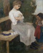 Bergen, Carl vonCuxhaven, 1853 - München, 193333 x 27 cm,R.Auf einer Bank sitzende Frau mit