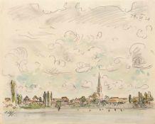 Haueisen, AlbertStuttgart, 1872 - Jockgrim, 1954Versch., o.R.2 Bl.: Ansicht einer Stadt, 1930;