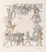 Slevogt, MaxLandshut, 1868 - Neukastel, 1932Versch.24 Bl.: Ohne Titel. Farblithografie und