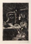 "Corinth, LovisTapiau, 1858 - Zandvoort, 192524,4x16,5 cm,o.R""Goetz und Elisabeth"", 1920/21."