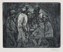 "Nolde, EmilNolde/Schleswig, 1867 - Seebüll, 195915,2x19,4cm,o.R.""Tischgesellschaft"", 1906."
