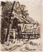 Cézanne, PaulAix-en-Provence, 1839 - 190613,5 x 11cm,o.R.Paysage à Auvers. Radierung in Braun auf
