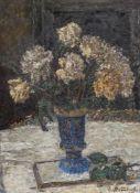 Stammbach, EugenStuttgart, 1876 - 196650 x 36 cm,R.Blumenstillleben. Öl auf Karton. In Öl unten