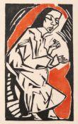 """Heckel, ErichDöbeln, 1883 - Hemmenhofen, 197018 x 10,5 cm,R.""""Liegende"""", 1913. Farbholzschnitt auf"""