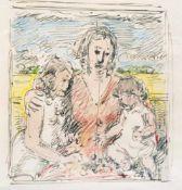 Haueisen, AlbertStuttgart, 1872 - Jockgrim, 1954Versch.5 Bl.: Ohne Titel. Zwei aquarellierte