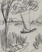 Kirchner, Ernst LudwigAschaffenburg, 1880 - Frauenkirch, 193820,6x15,9cm,o.R.Segelboote, 1910 -