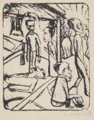"""Heckel, ErichDöbeln, 1883 - Hemmenhofen, 197027 x 21,5cm,R.""""Die Brüder Karamasow"""", 1919. Lithografie"""