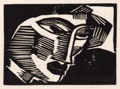"Schmidt-Rottluff, KarlRottluff, 1884 - Berlin, 197617,5 x 24cm,o.R.""Kopf"", 1915/1919. Holzschnitt"