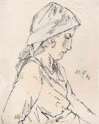 Haueisen, AlbertStuttgart, 1872 - Jockgrim, 1954Versch., o.R.3 Bl.: Bildnis, 1933; Am Brunnen;
