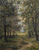 Noireaut, LéonParis, 1886 - (?), 196042 x 33 cm,R.Waldweg bei Versailles, 1912. Öl auf Holz. In Öl