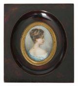 Völcker, RobertDohna 1854 - 1924 MünchenH. 7,5 cmMiniaturportrait einer jungen Dame im blauen
