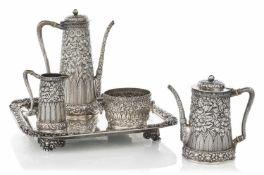 Kaffee-Tee-Service mit TablettTiffany & Co., New York, 20. JahrhundertD. 35 cmBestehend aus