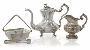 Kaffeekanne, Milchkännchen, ZuckerschaleSt. Petersburg, 1845, 1850, 1892/93D.18,H.15,5/